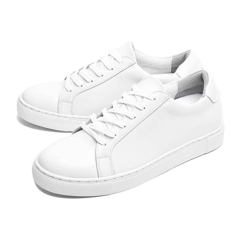 5.5cm基础皮革胶底帆布鞋(CL0004)