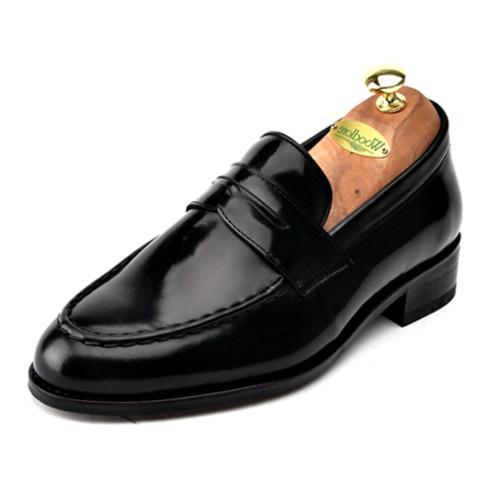 6.5cm增高鞋便士活套手工鞋(EL0045BK)