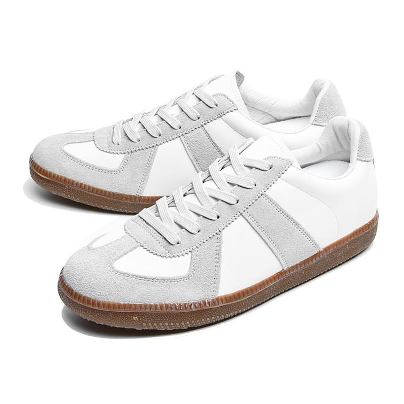 5cm德国皮革胶底帆布鞋(CL0006)