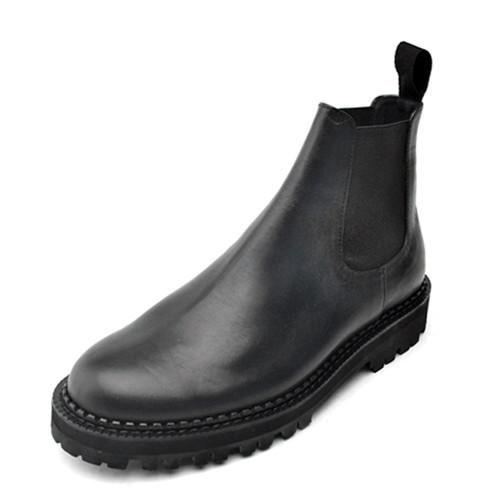 8cm皮革平底鞋Chelsea Boots手工鞋(Michael_EL0130BK)