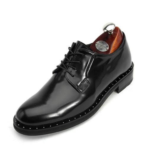 7cm银球独特德比鞋手工鞋(Pablo _CH0033BK)