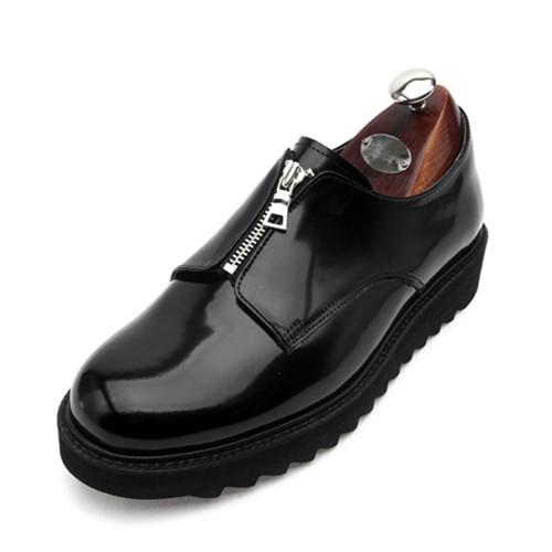 7cm平脚趾拉链鲨鱼Sol Clipper手工鞋(EL0146BK)