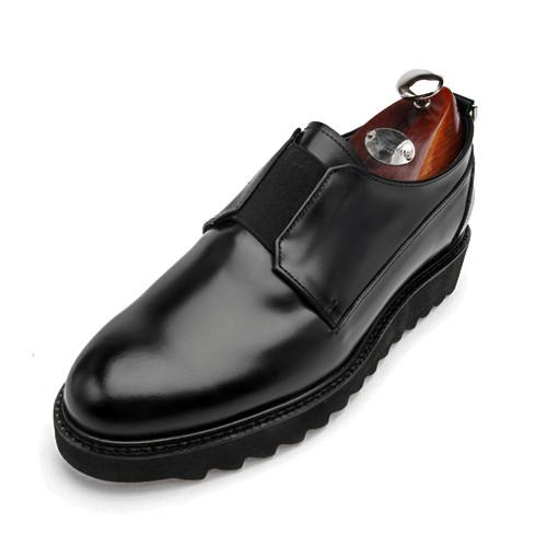 7cm鲨鱼鞋底纯松紧带手工鞋(Arena _EL0148BK)