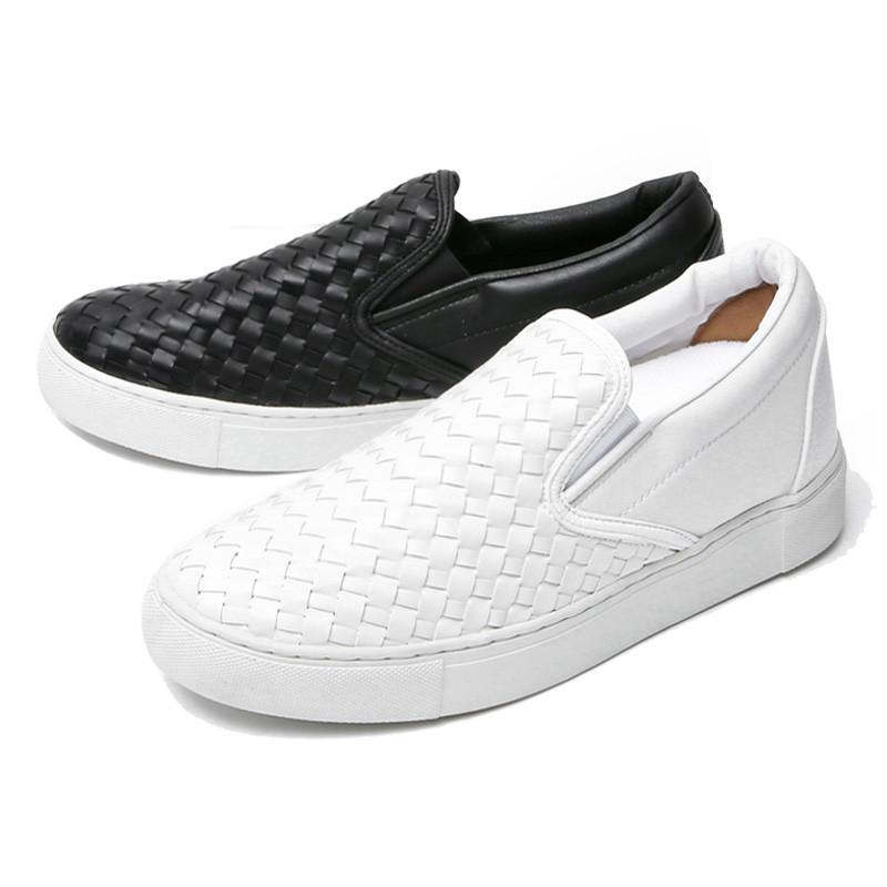 5.5cm皮革编织夹松紧帆布鞋(CL0014)