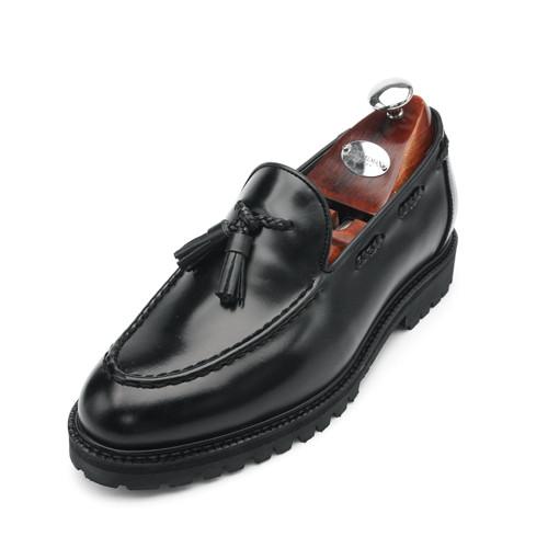 7cm Komando Yuti流苏looper手工鞋(EL0151BK)