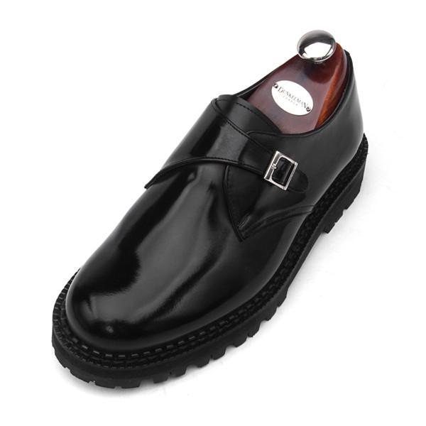 7cm Komando Monk系带手工鞋(EL0159BK)