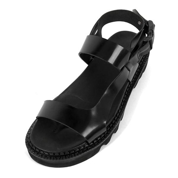 5.5cm Komando松紧带凉鞋手工鞋(EL0171BK)