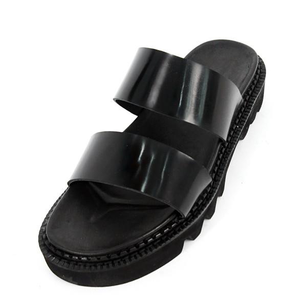 5.5cm komando松紧带拖鞋手工鞋(EL0172BK)