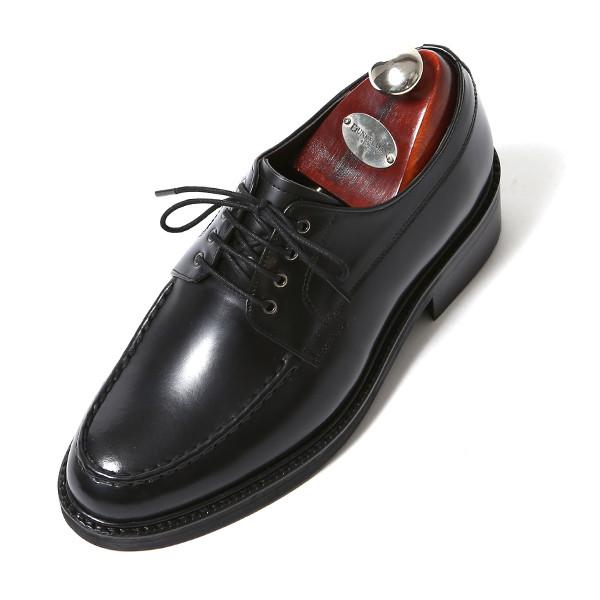 7.5cm缝Yutip Derby牛津布手工鞋(EL0175BK)