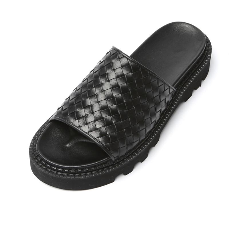 5.5cm Comando编织拖鞋手工鞋(Boneta _EL0176BK)