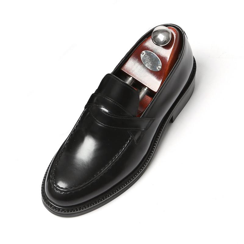 7.5cm Yutibari交叉便士活套手工鞋(Luis _EL0177BK)