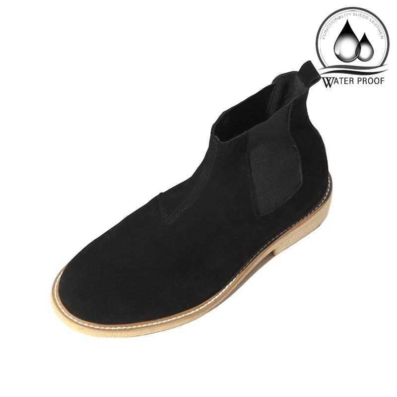 7cm绉纱半透明皮草切尔西靴手工鞋(Lufth _EL0181BK)