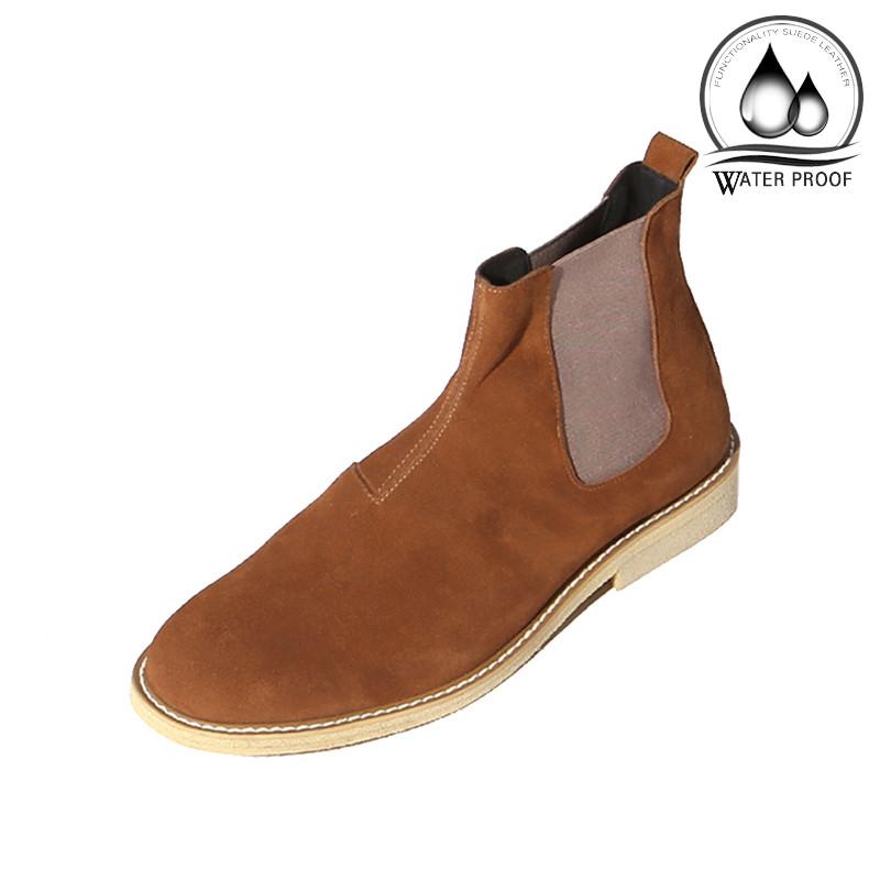 7cm绉纱半透明皮草切尔西靴手工鞋(Lufth _EL0181BR)