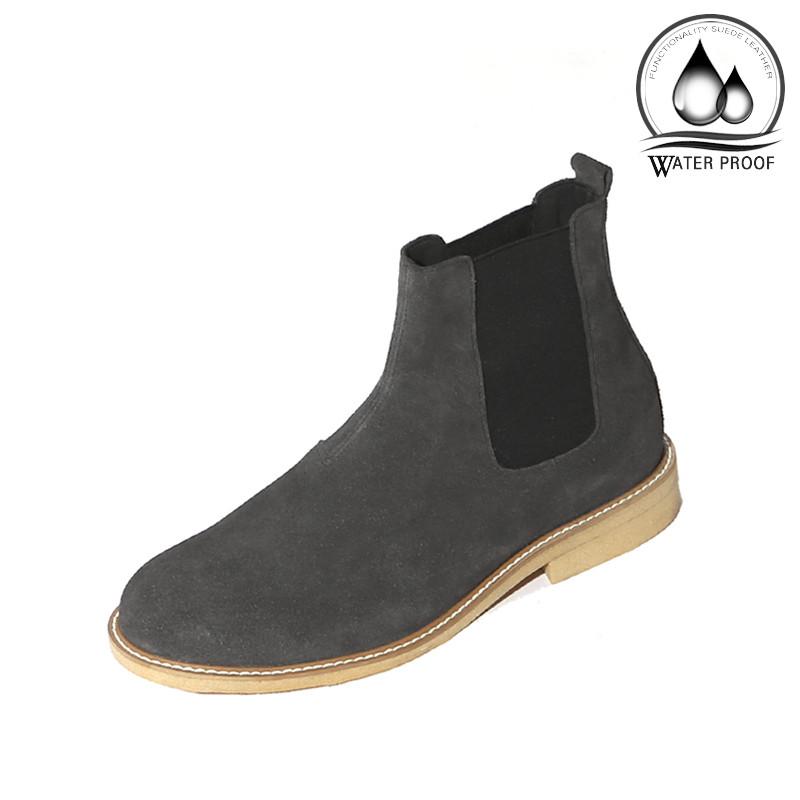 7cm绉纱半透明皮草切尔西靴手工鞋(Lufth _EL0181GR)