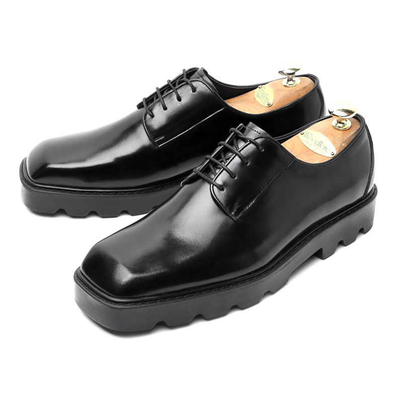 6cm方顶德比皮鞋(PIERRY _EL0184BK)