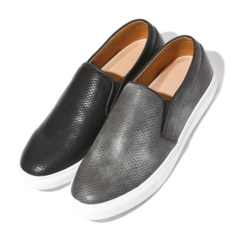 3cm蛇皮カムメ松紧帆布鞋(DA0110)