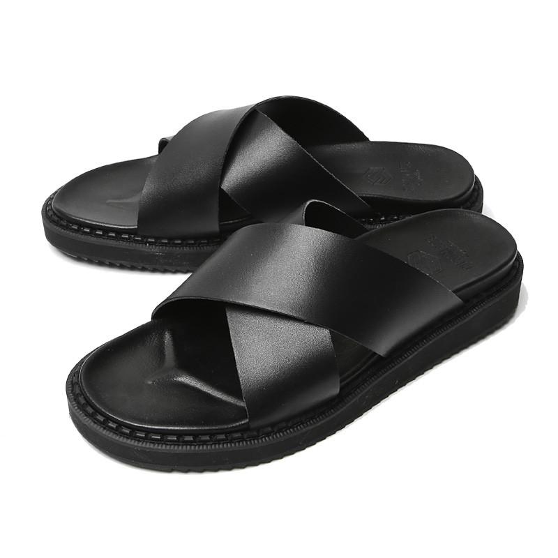 4cm真皮交叉拖鞋(RUX_CR0006)