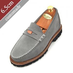 6.5cm增高鞋便士活套手工鞋(EL0048GY)